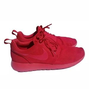 Nike Roshe One Mens Size 10 Varsity Red Shoes EUC